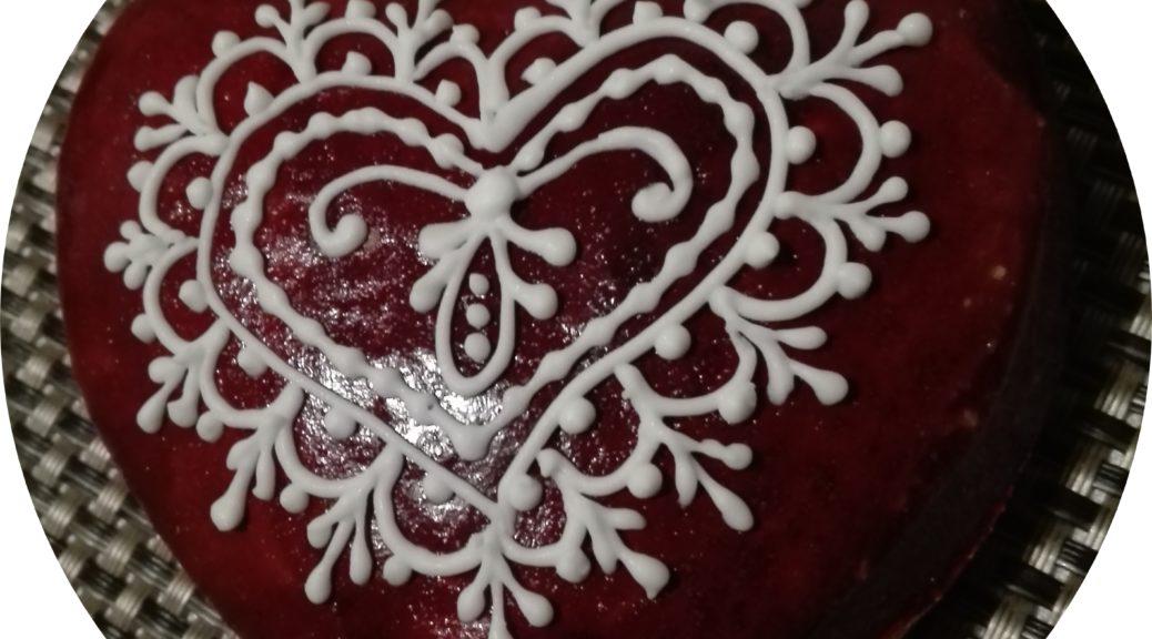 Piros zselatinos szív